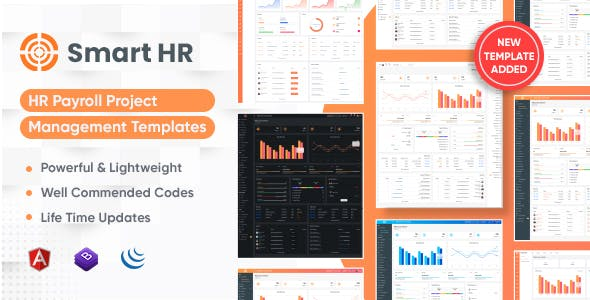 SmartHR - HR, Payroll, Project, Office & Employee Management Admin Template with RTL (Html + Angular