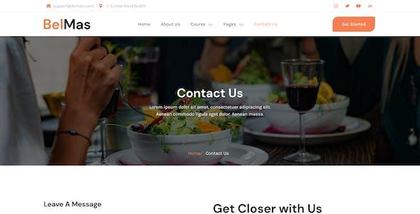 BelMas – Online Cooking Class & Workshop Elementor Template Kit