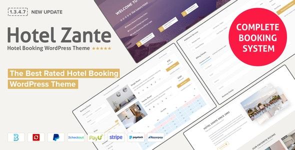 Hotel Zante v1.3.4.7 – Hotel Booking Theme