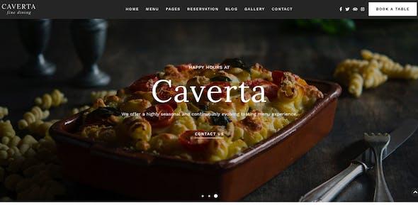 Caverta - Restaurant Cafe Theme