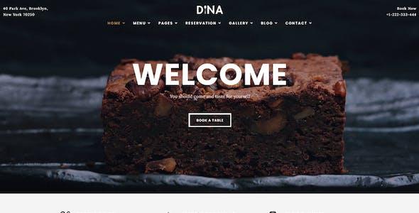 Dina - Restaurant Cafe Food Theme