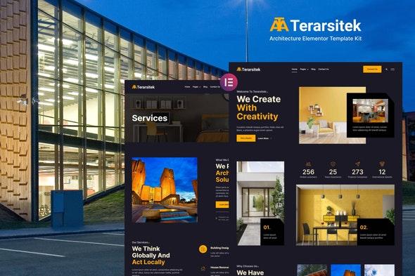 Terarsitek - Architecture Elementor Template Kit - Real Estate & Construction Elementor
