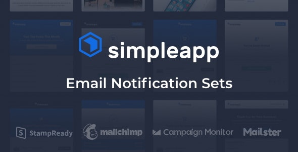 SimpleApp - Email Notification Sets - Newsletters Email Templates
