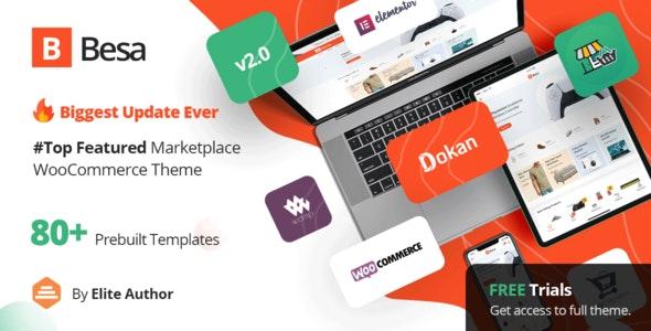 Besa v2.0.3 – Elementor Marketplace WooCommerce Theme