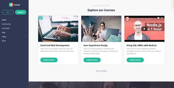Gwangi - PRO Multi-Purpose Membership, Social Network & BuddyPress Community Theme