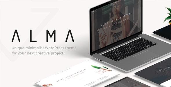 Alma - Minimalist Multi-Use WordPress Theme - Portfolio Creative