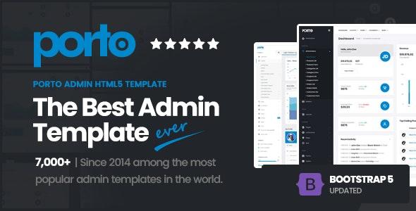 Porto Admin - Responsive HTML5 Template - Admin Templates Site Templates