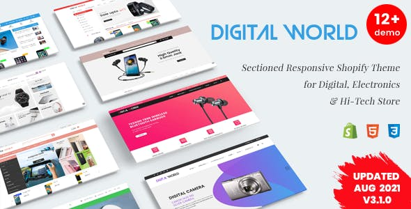 Digital World - Sectioned Responsive Shopify Theme for Electronics & Hi-Tech Store
