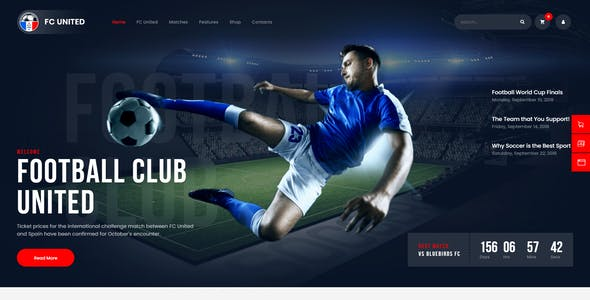 FC United | Football, Soccer & Sports WordPress Theme + RTL