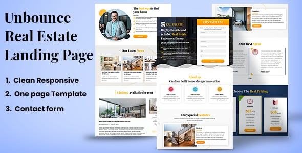 Real Estate– Unbounce Landing page