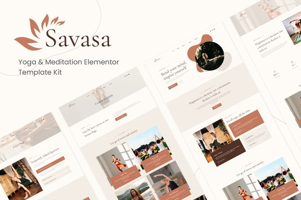 Savasa - Yoga & Meditation Elementor Template Kit - Sport & Fitness Elementor