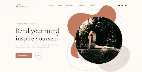 Savasa - Yoga & Meditation Elementor Template Kit