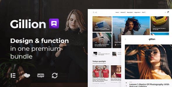 Gillion | Multi-Concept Blog/Magazine & Shop WordPress AMP Theme