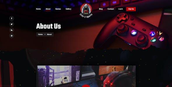 CROX    Esports & Gaming Elementor Template Kit