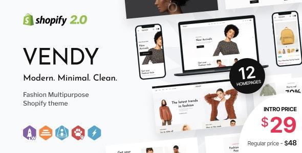 Vendy v1.0 – Multipurpose Shopify Theme for Fashion