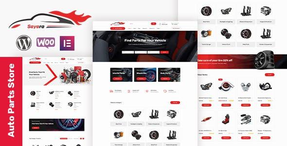 Sayara |  Auto Parts Store WooCommerce WordPress Theme