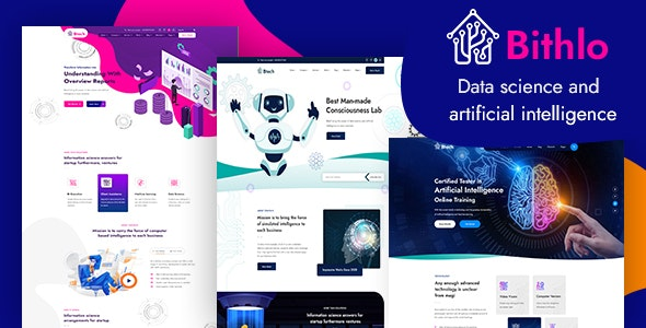 Bithlo - Data Science & Artificial Intelligence HTML Template - Technology Site Templates