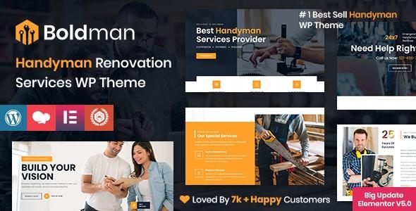 Boldman - Handyman Renovation Services WordPress Theme - Business Corporate