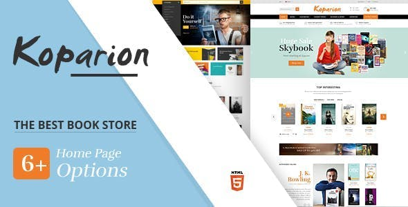 Koparion – Book Shop HTML5 Template