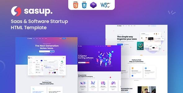 Sasup - Sass Landing HTML5 Template - Software Technology