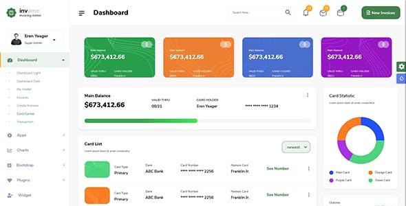 Invome -  Admin Dashboard Bootstrap 5 Template
