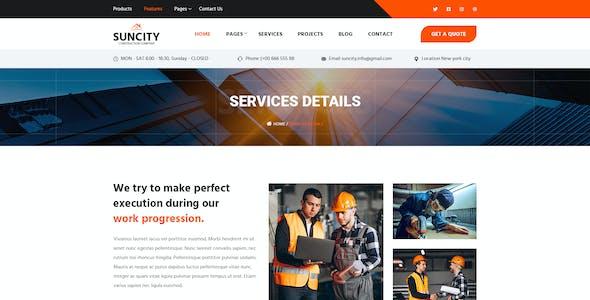 Suncity – Construction PSD Template