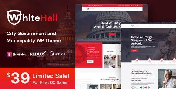 White Hall - Municipal and Government WordPress Theme - Political Nonprofit