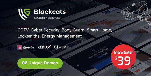 Blackcats - CCTV & Security WordPress Theme - Business Corporate