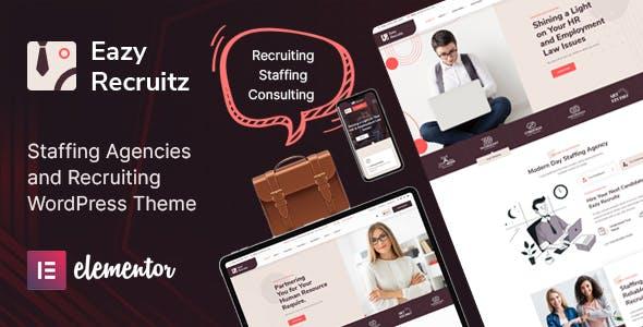 Eazy Recruitz - Staffing Agencies WordPress Theme