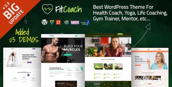 Fit Coach - Health, Yoga and Lifestyle WordPress Theme - Health & Beauty Retail