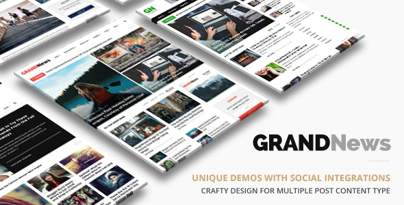 Grand News   Magazine Newspaper WordPress - News / Editorial Blog / Magazine