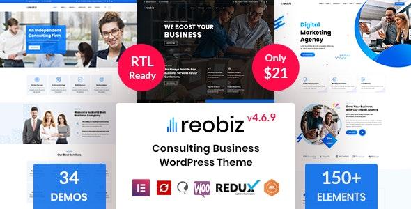 Reobiz v4.6.9 – Consulting Business WordPress Theme