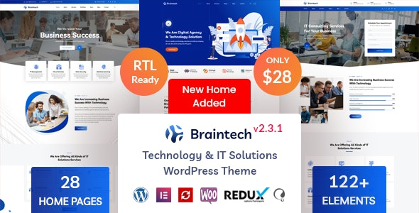 Braintech v2.3.1 – Technology & IT Solutions WordPress Theme
