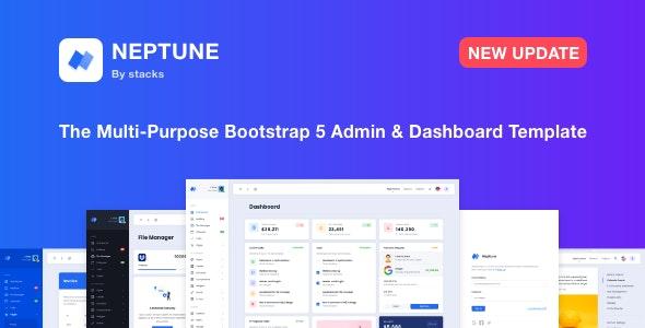 Neptune v1.2 – Multi-Purpose Bootstrap 5 Admin Dashboard Template