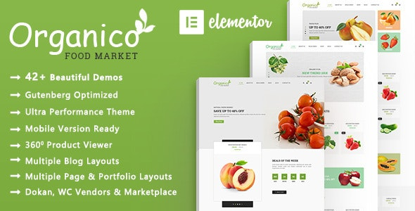 Organico | Organic Food WooCommerce WordPress Theme - WooCommerce eCommerce