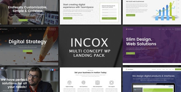 Incox - Multi-Concept Landing Pages WP Theme - Marketing Corporate