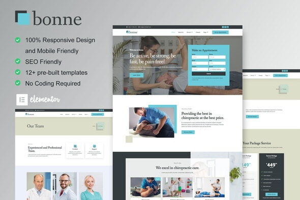 Bonne - Chiropractic & Physiotherapy Elementor Template Kit - Health & Medical Elementor