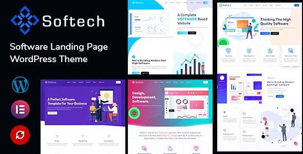 Softech - Software & Landing Page WordPress Theme - Technology WordPress