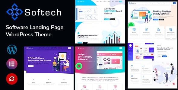 Softech - Software & Landing Page Premium themeforest WordPress Theme