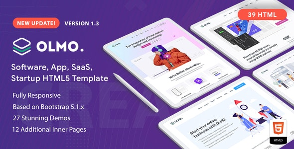 OLMO - Software & SaaS HTML5 Template - Software Technology