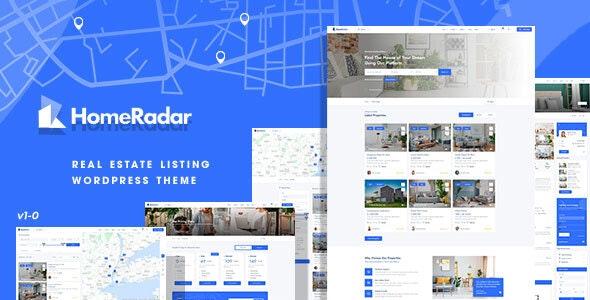 HomeRadar v1.0.4 – Real Estate WordPress Theme