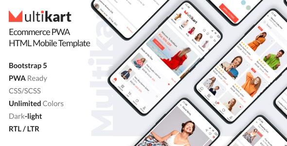 Multikart - Ecommerce PWA Mobile HTML Template - Mobile Site Templates