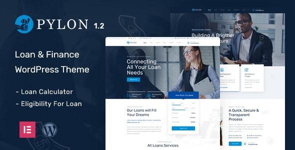 Pylon - Loan & Finance WordPress Theme - Business Corporate