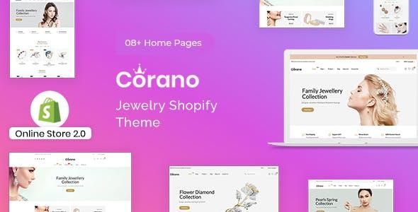 Corano - Jewelry Store Shopify Theme