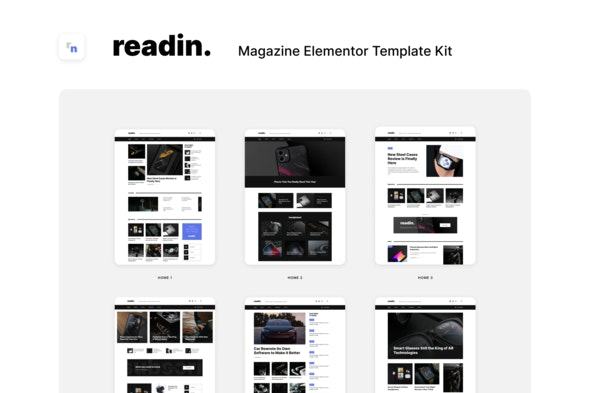 Readin - Blog & Magazine Elementor Template Kit - Technology & Apps Elementor