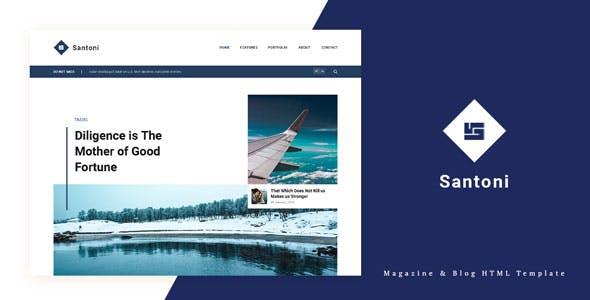 Santoni - Blog and Magazine HTML Template