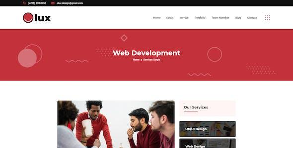 Olux – Creative Personal CV/Resume Portfolio XD Template