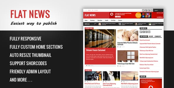 FlatNews - Responsive Magazine Blogger Template