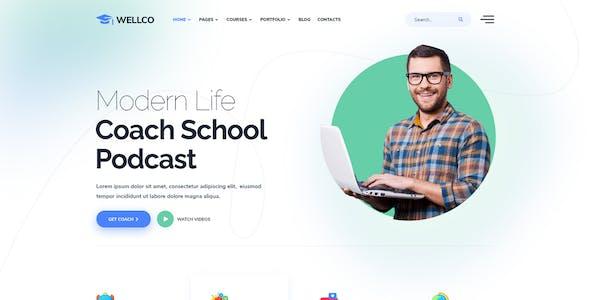 Wellco - Coaching & Speaker Elementor Template Kit