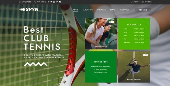 Spyn - Tennis Club WordPress Theme